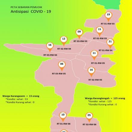 Album : Peta Persebaran Calon Pemudik Desa Karangtengah